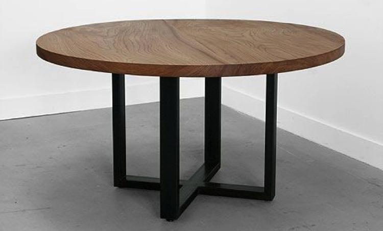Mesa redonda madera herrería | Ambiente & Decoración in 2019 | Mesas ...