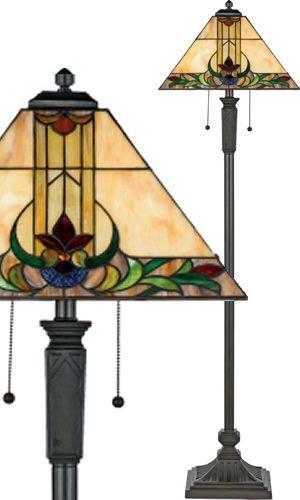 Art Nouveau Style Floor Lamp With