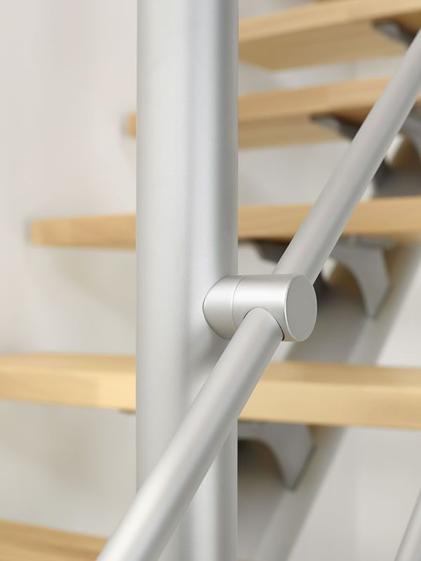 Best Fontanot Plume External Staircase Aluminum Handrail Stairs 400 x 300