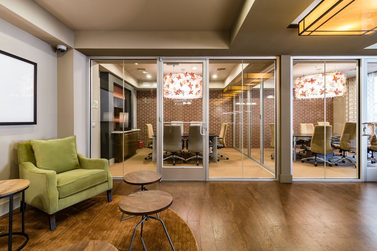 More than one conference room is available for residents