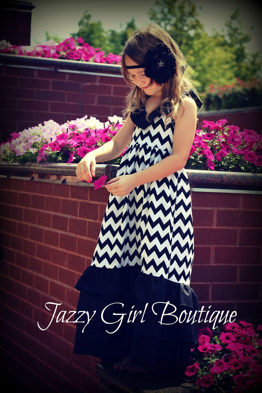 Girls Boutique Maxi Dress Black White Chevron 2t 3t 4t Etsy Boutique Maxi Dresses Little Girl Dresses Maxi Dress [ 1500 x 1000 Pixel ]