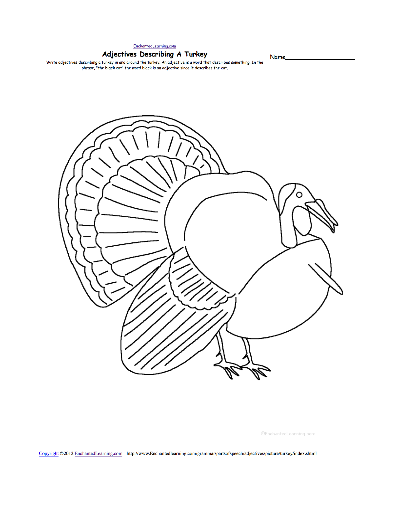 Enchanted Learning Thanksgiving Theme Page