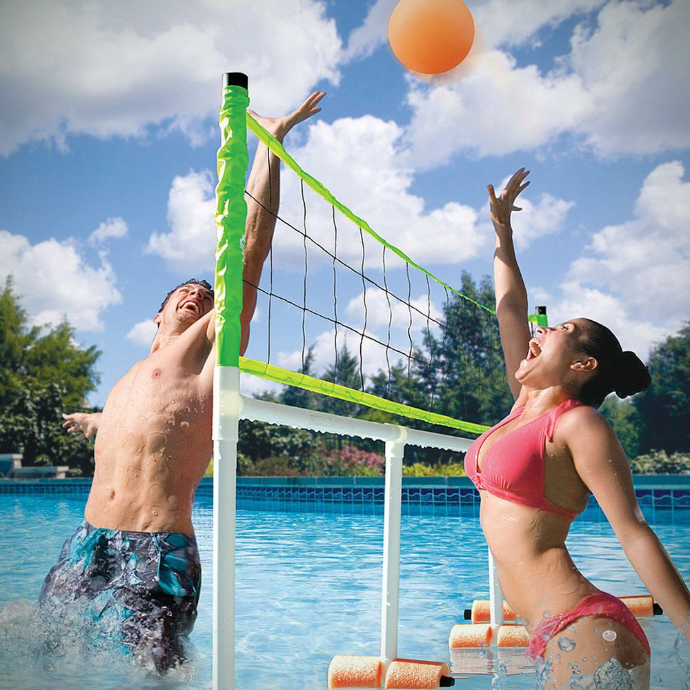 Wham O Monster Volleyball And Water Polo Set Outdoor Fun For The Whole Family Water Volleyball Volleyball Set Pool Volleyball Net