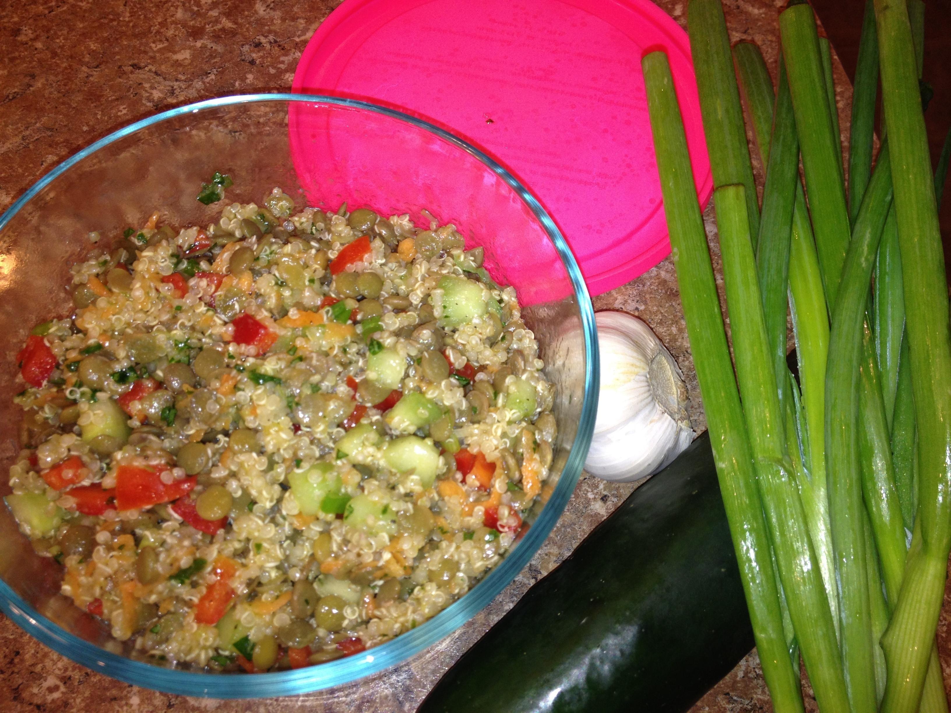 Lentil quinoa salad recipe lentils quinoa salad and quinoa food lentil quinoa salad forumfinder Choice Image