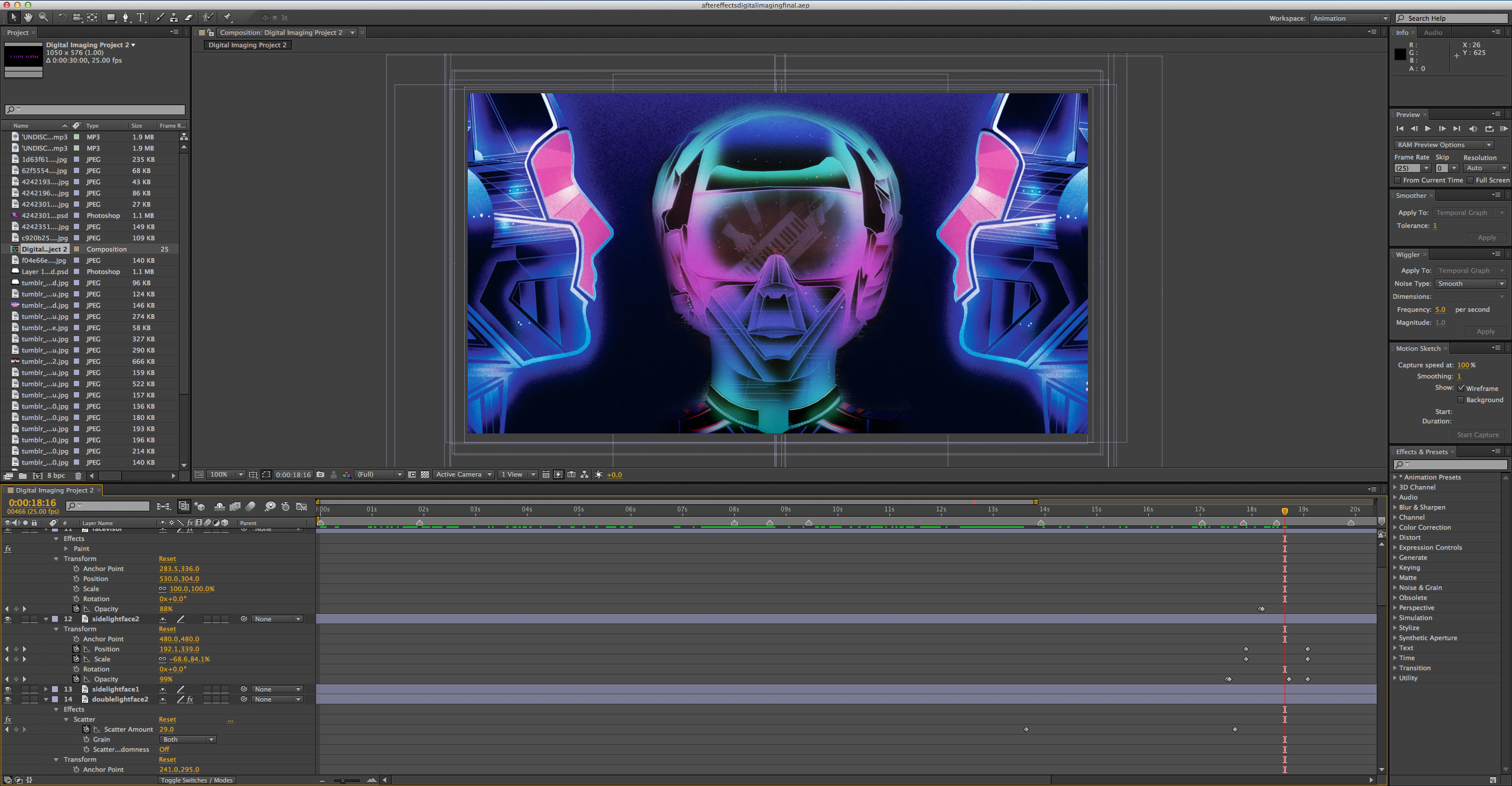 Progress in After Effects - Having different images