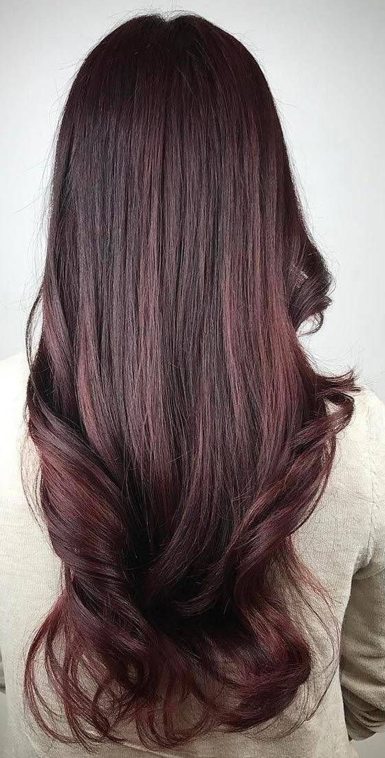12 Hottest Mahogany Hair Color Highlights For Brunettes Hairstyles