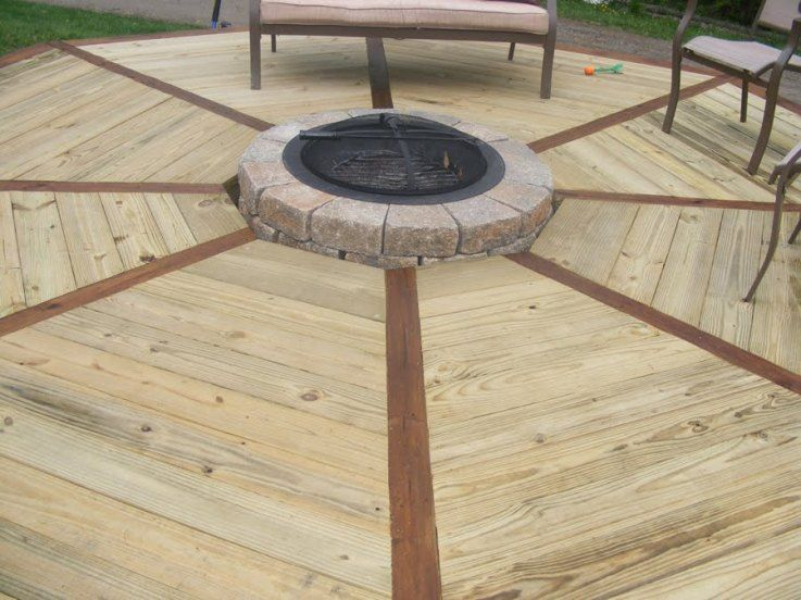Propane Fire Pits For Decks First Section Of New Deck Add On