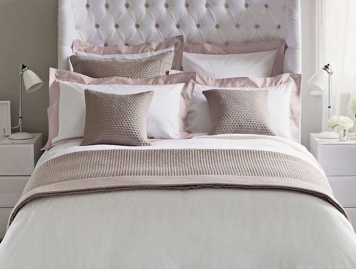 chambre taupe et rose et meurs gris peinture murs intérieur   Home ...