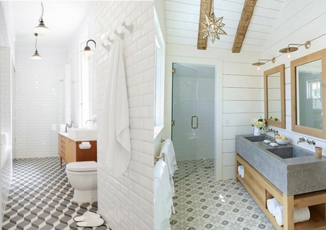 20 inspirations pour des carreaux de ciment bathroom