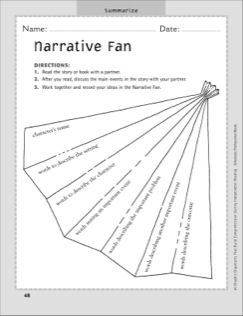 Narrative Fan (Summarizing): Independent Reading Graphic