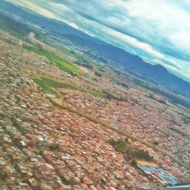 """#bogotá from the air #SocialMediaWeek #InstagramYourCity"" by @ermetic"