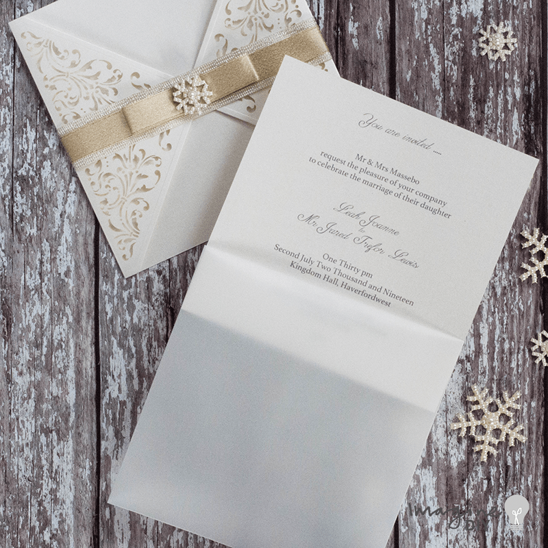 How To Make Beautiful Diy Winter Wedding Invitations