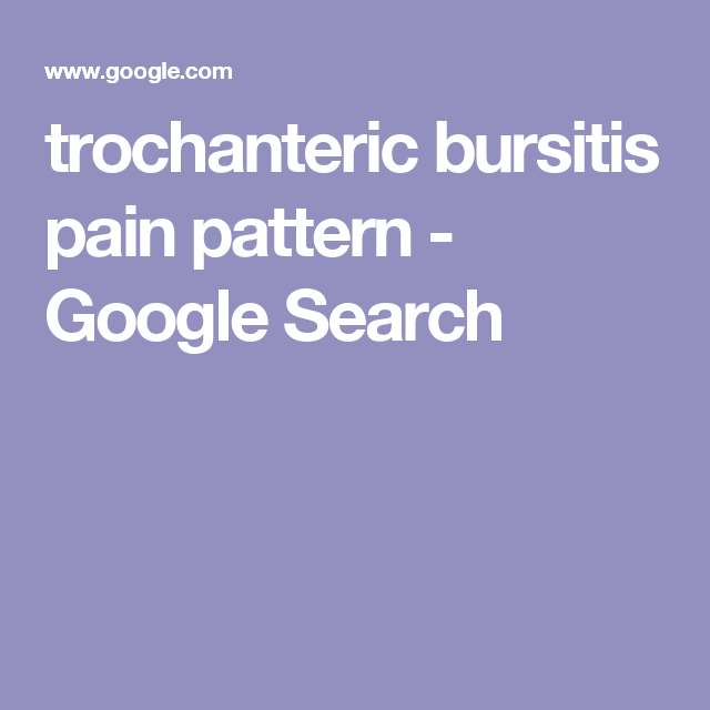trochanteric bursitis pain pattern - Google Search | Hip exercise ...