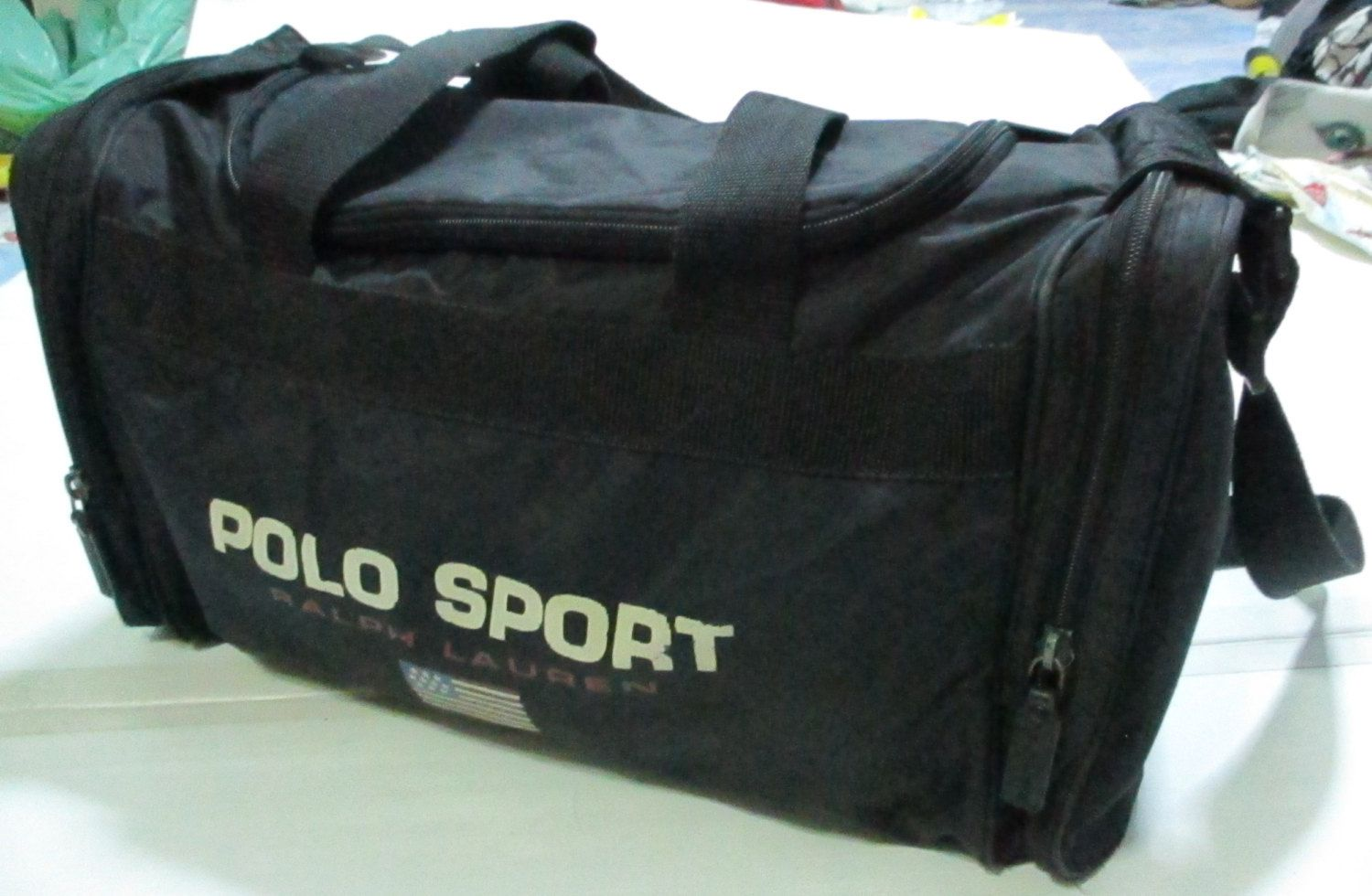 19d9a1cc77 vintage 90s polo sport ralph lauren duffel travel gym bag rare!! by  OHCHYVINTAGE on Etsy