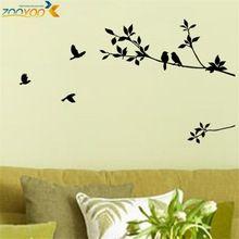 Vogels op takken boom muurstickers zooyoo8171 decoratieve sticker ...