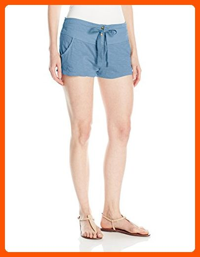 Roxy Junior's Livin in a Dream Beach Shorts Elastic Waist, Captains Blue, S - All about women (*Amazon Partner-Link)