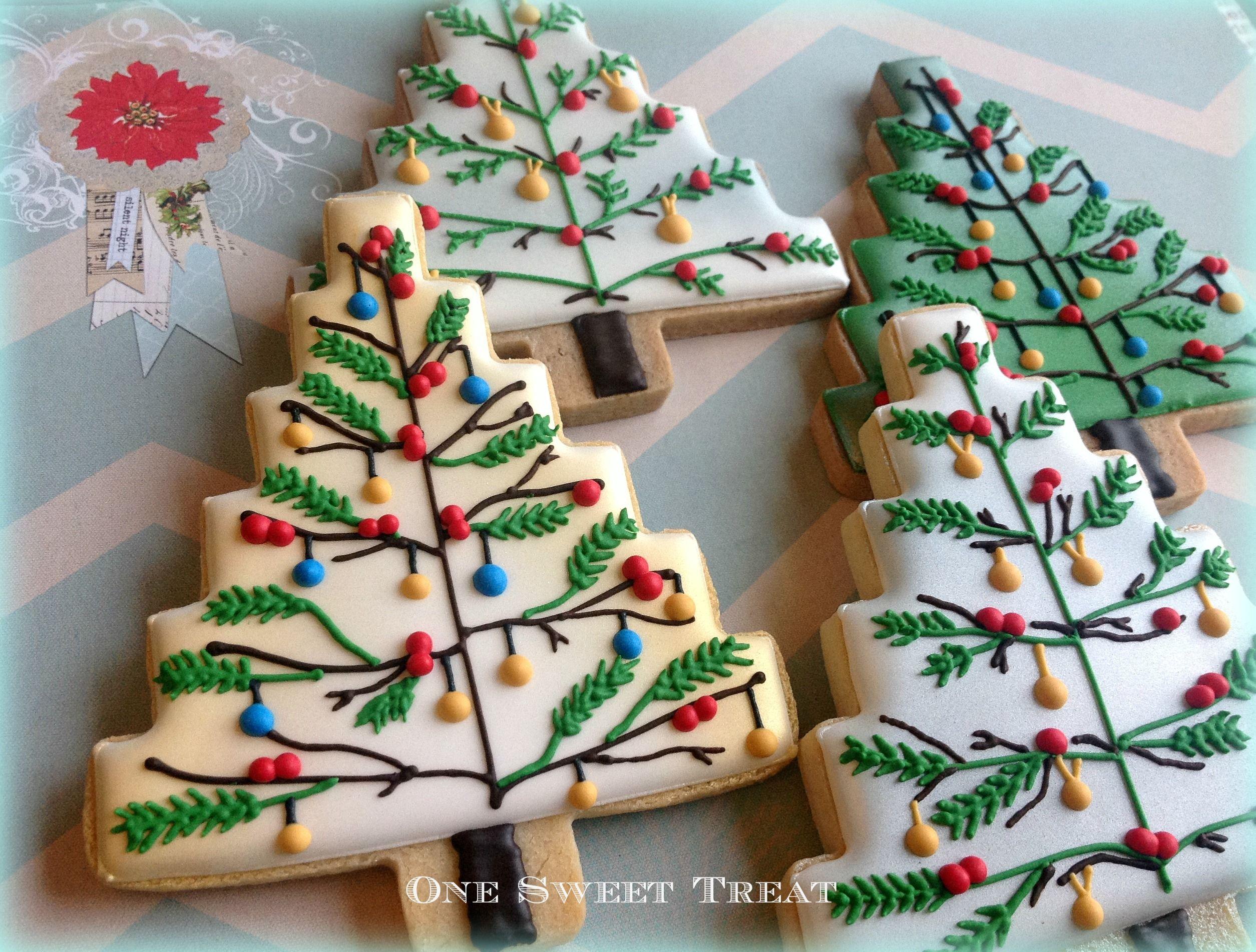How to make christmas sugar cookies - Christmas Trees Sugar Cookies