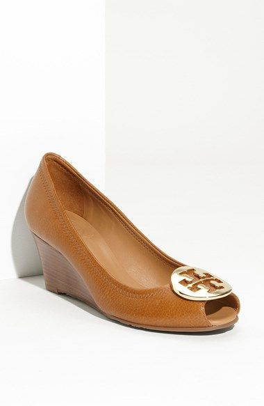 8c66cea71fa For the Tory Burch Fan that need a lower wedge heel. Black color too! Tory  Burch  Sally 2  Peep Toe Wedge Pump available at  Nordstrom  waresthemore