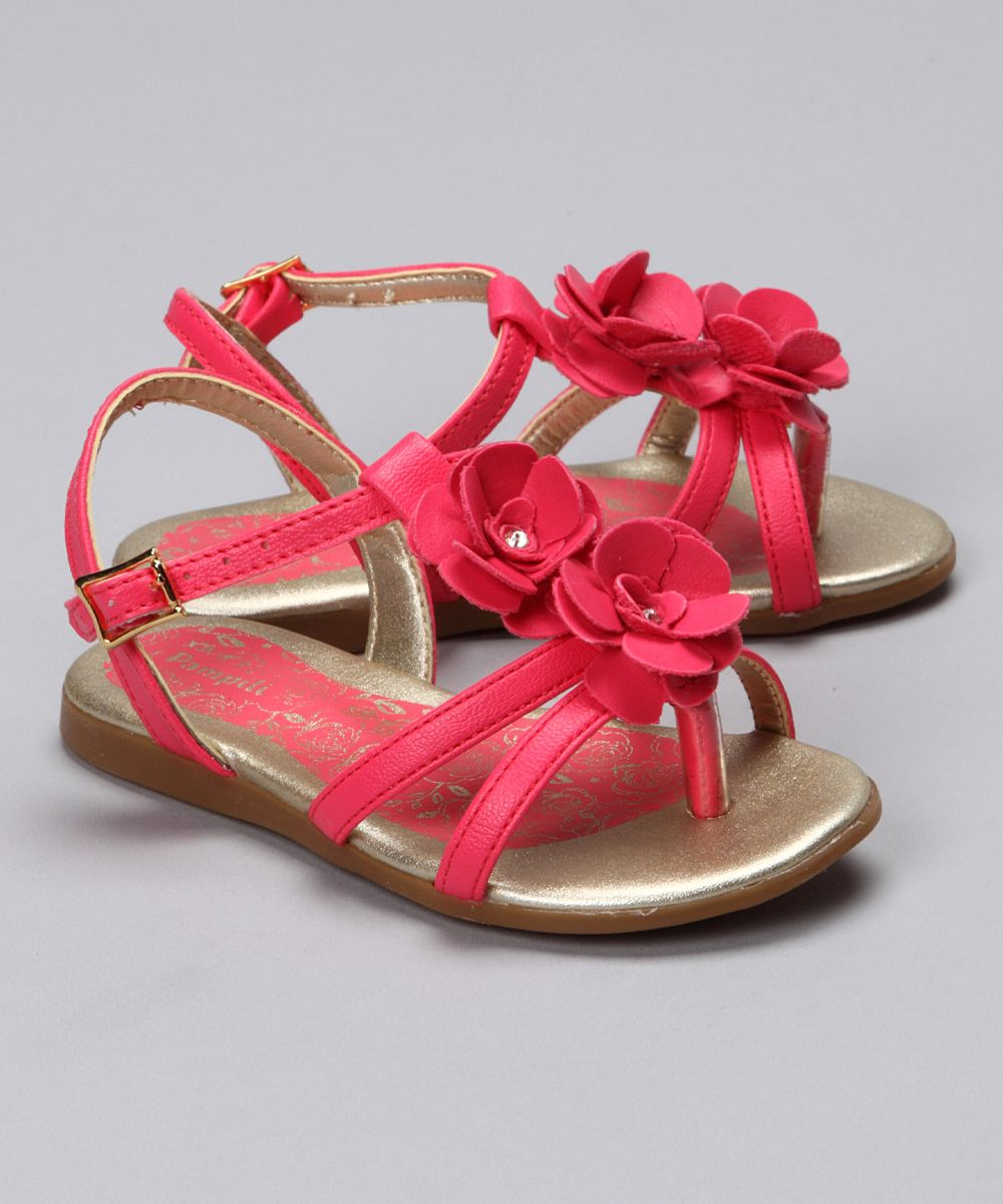 Pampili Red Double Flower Sandal