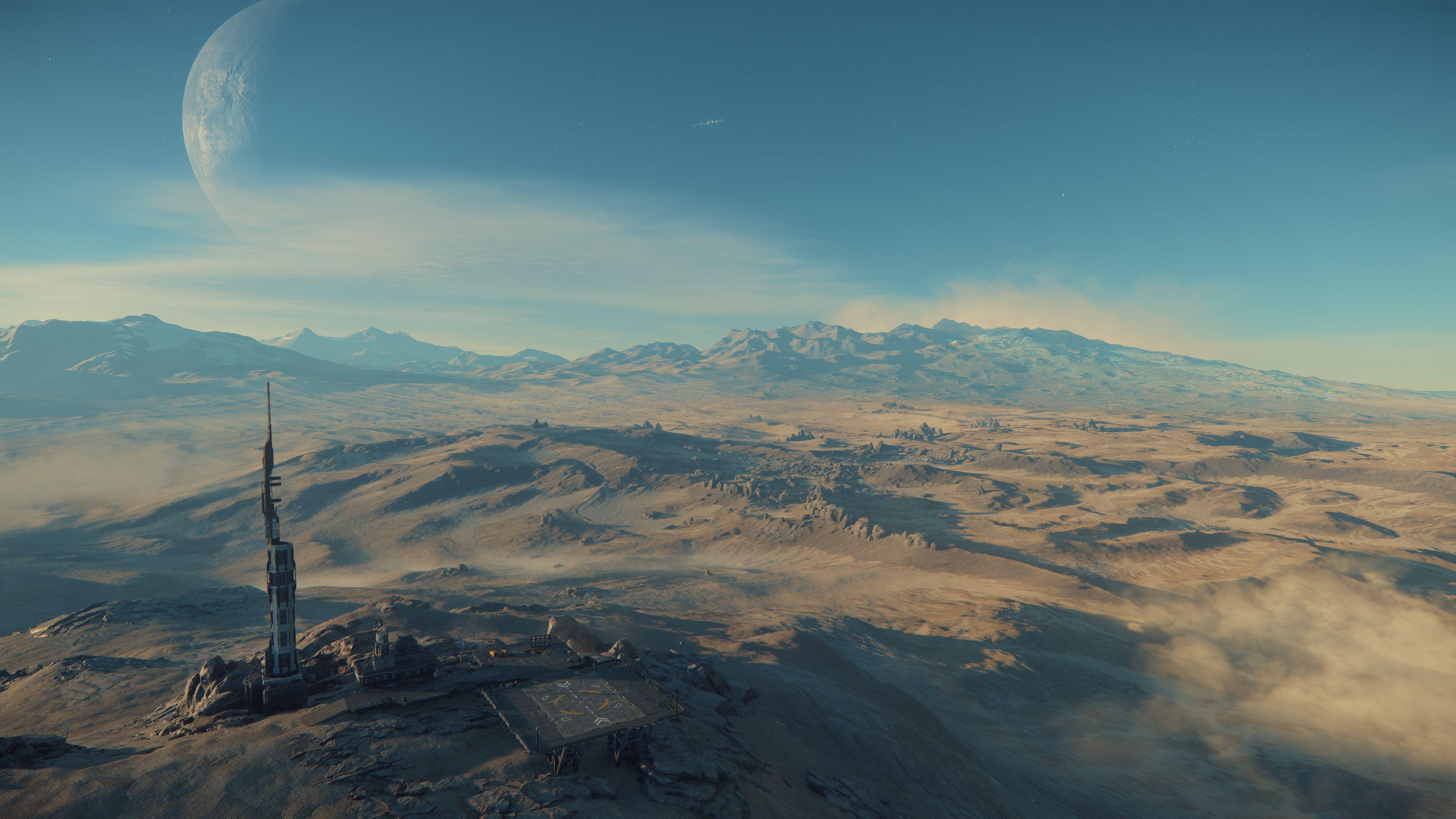 Kleine Landebasis auf prozeduralem Planeten
