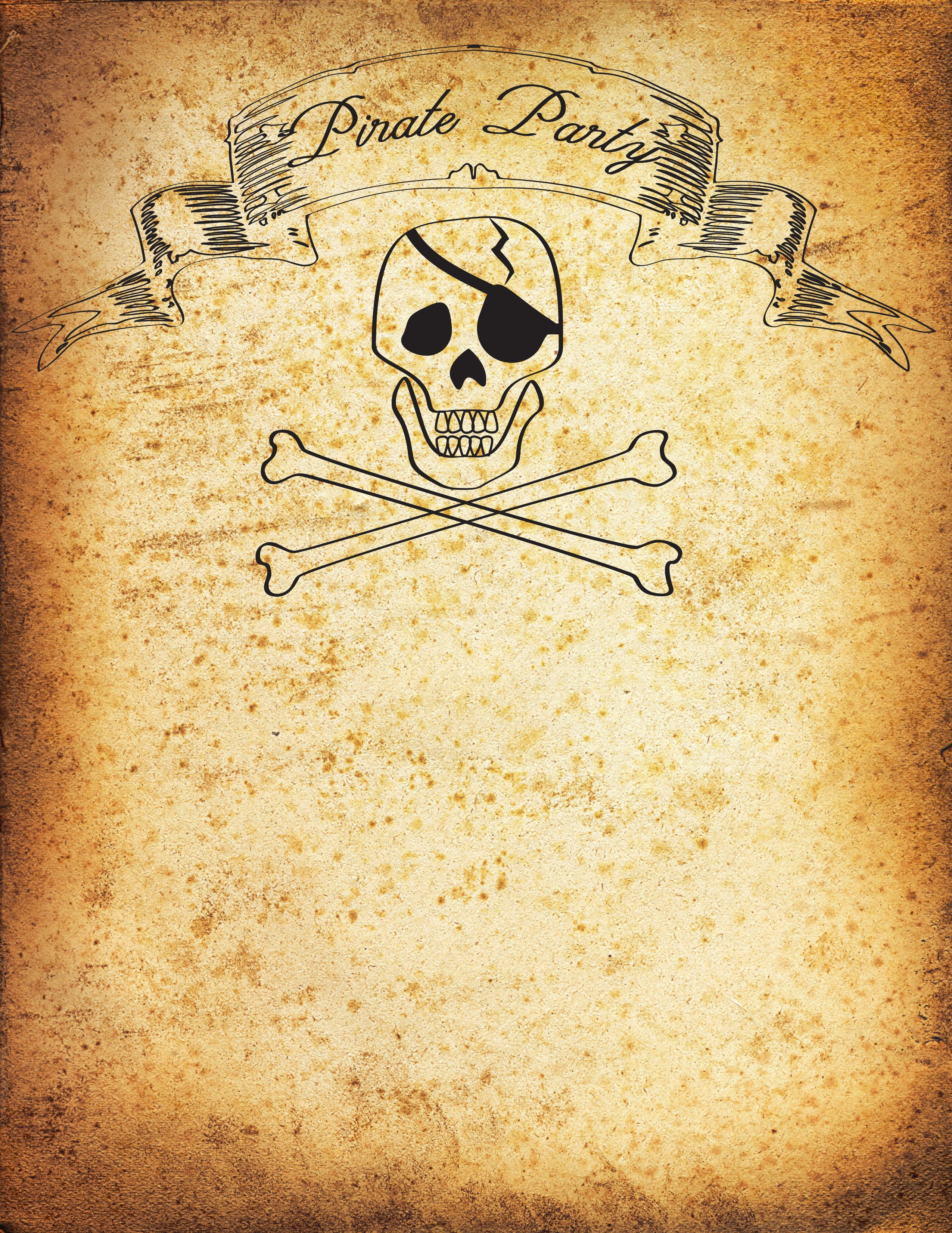 Free Pirate Party Invitation Printable Tutorial | Party invitations ...