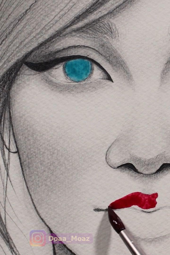 Satisfying watercolor video ♥ - #cartoon #Satisfying #Video #watercolor