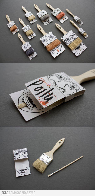 Smart Brush Packaging: Mustache