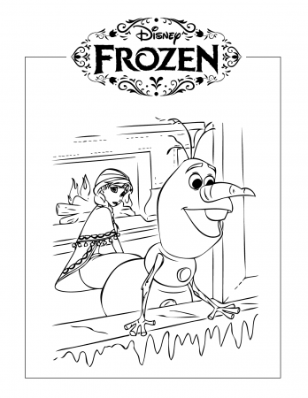 Olaf Coloring Pages - coloring.rocks! in 2020 | Elsa ...