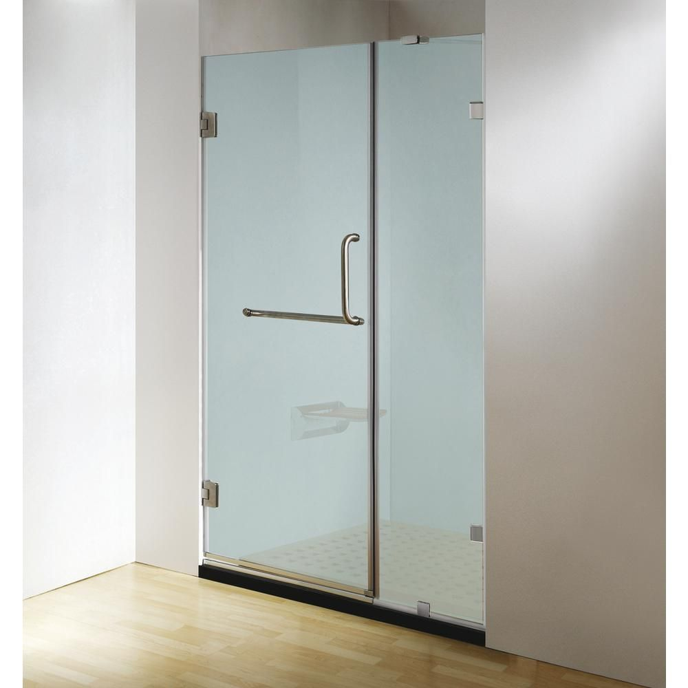 Dreamwerks 60 In X 79 In Frameless Hinged Shower Door Clear