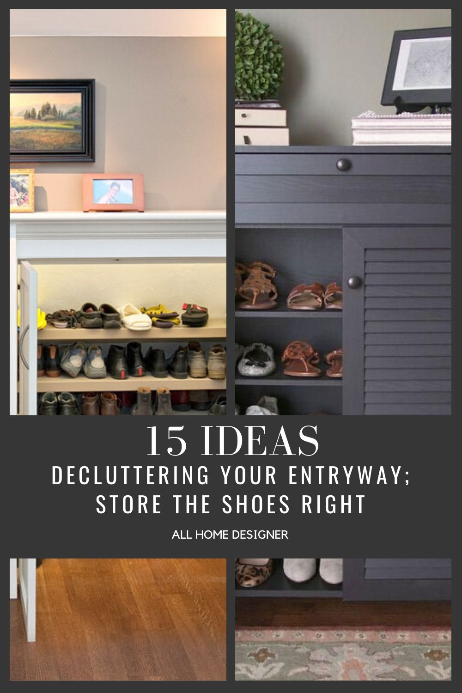 Entryway Shoe Storage Ideas #entryways #entrywayideas