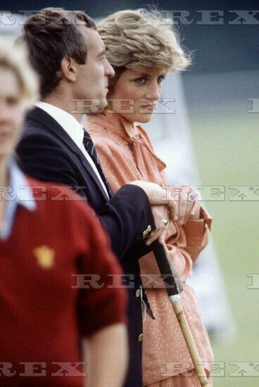 June 20, 1985: Princess Diana with her bodyguard, Barry Mannakee at Guards Polo Club, Smiths Lawn, Windsor.