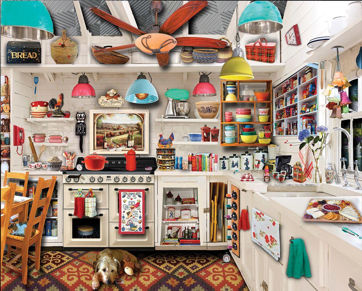 Retro Kitchen Seek & Find - 1000pc Jigsaw Puzzle by White