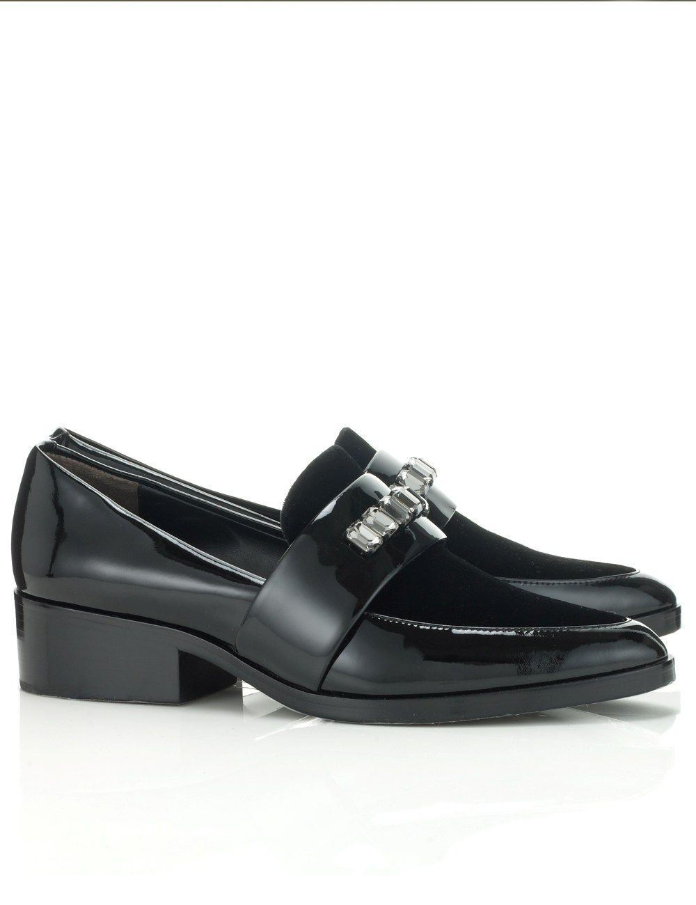 cdc6a0353dcc2 Black Embellished Quinn Loafers