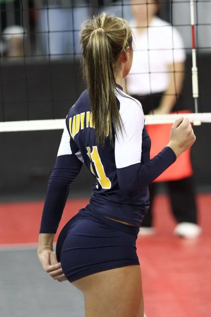 Sexy women in volleyball shorts