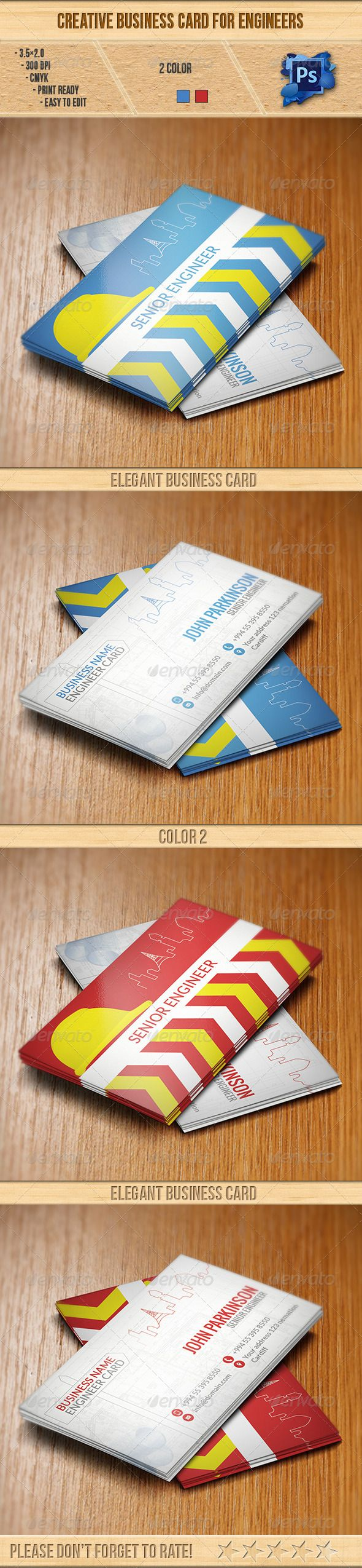 Creative Business Card for Engineers | Business cards, Business and ...