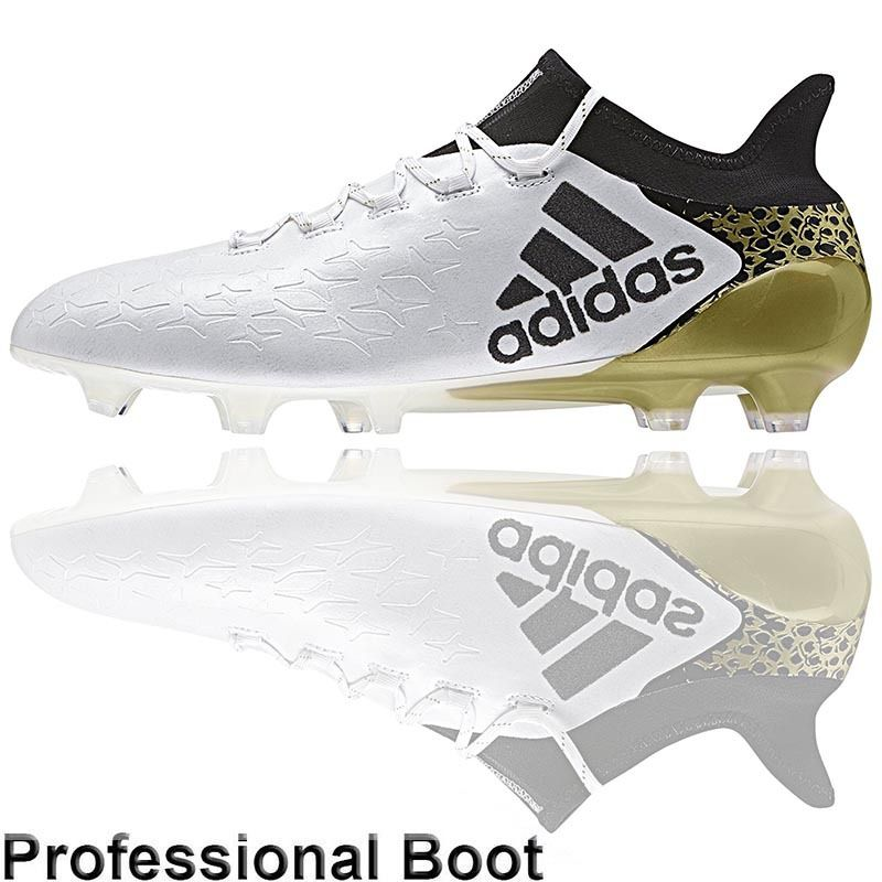 682bb18c1 ... purechaos fg coreblack white gold metallic; the football nation ltd adidas  x16.1 boots (fg white black