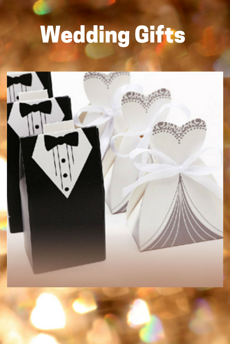 50~200PCS DRESS & TUXEDO Bride Groom Ribbon Candy Gift Boxes Party ...