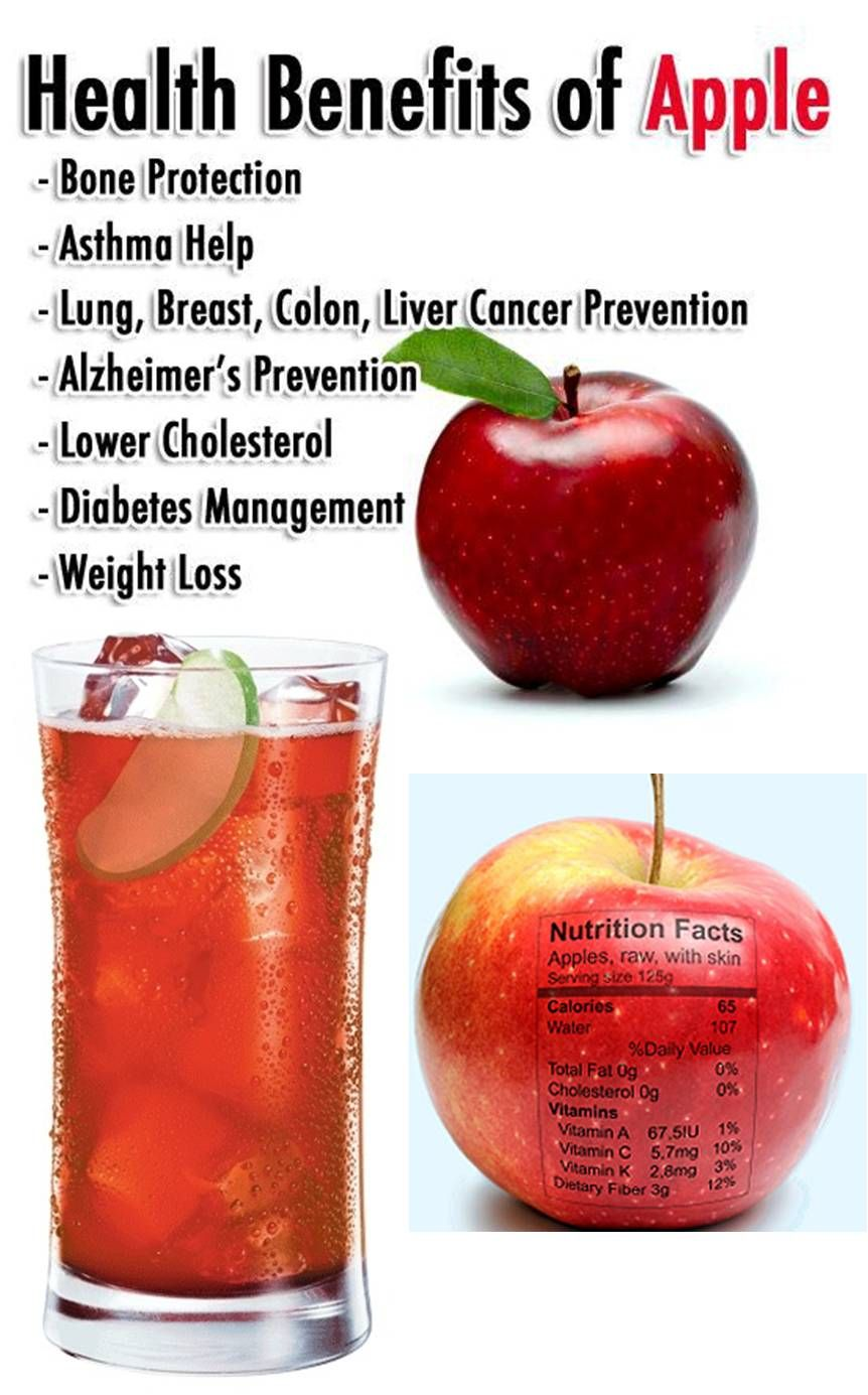 Health benefits of apple and apple juice apple health