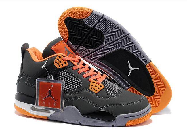 low priced 450c9 9f75d Men s Air Jordan IV-Dark Grey Team Orange Shoes