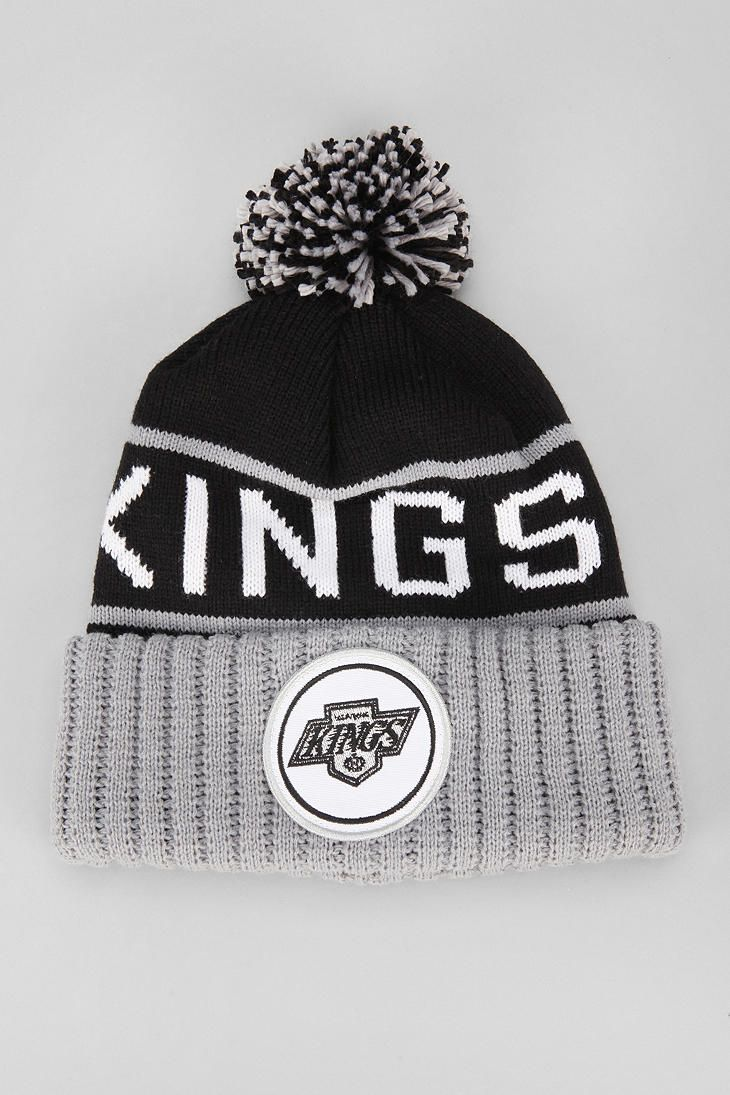 ff9c40beae3 Mitchell   Ness High-Five Los Angeles Pom Beanie - Urban Outfitters ...