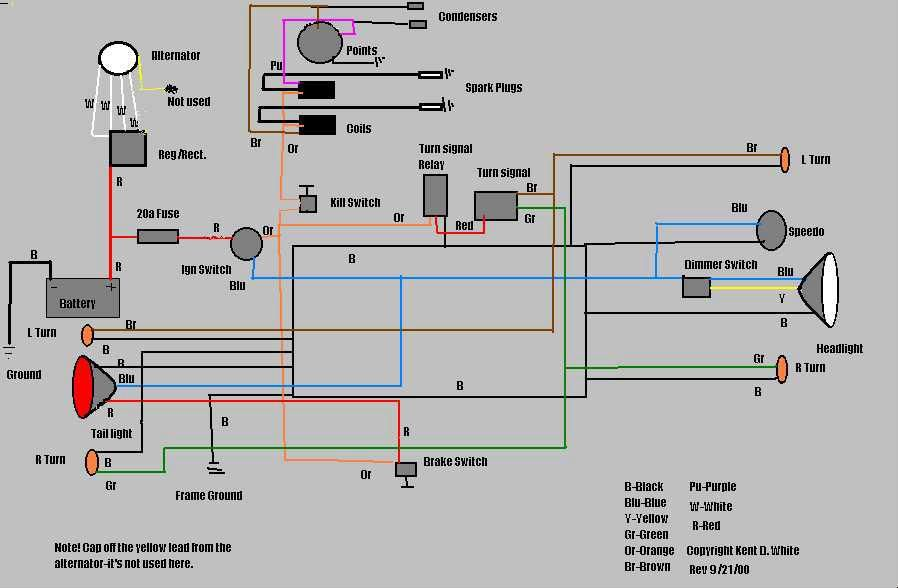 motorcycle wirering diagram - yahoo image search results | ultima  pinterest