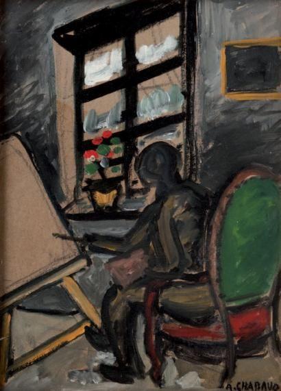 Auguste CHABAUD (1882-1955) Le peintre au chevalet