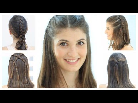 5 Hairstyles For Short Hair Short Hair Styles Easy Hair Videos Braids For Short Hair