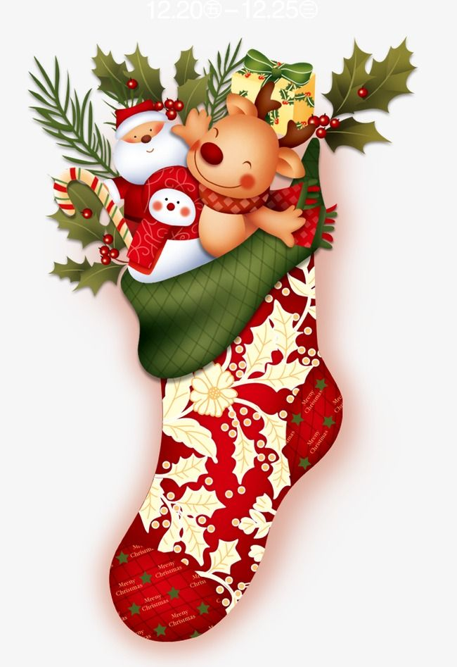 Christmas Stockings Png.Christmas Stocking Santa Claus Gift Png Transparent