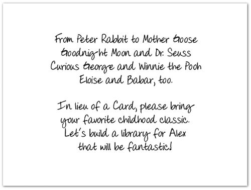 Baby Shower Rhyme Tell Guests To Bring A Child Book Instead Of Spending Few Dollars On Card