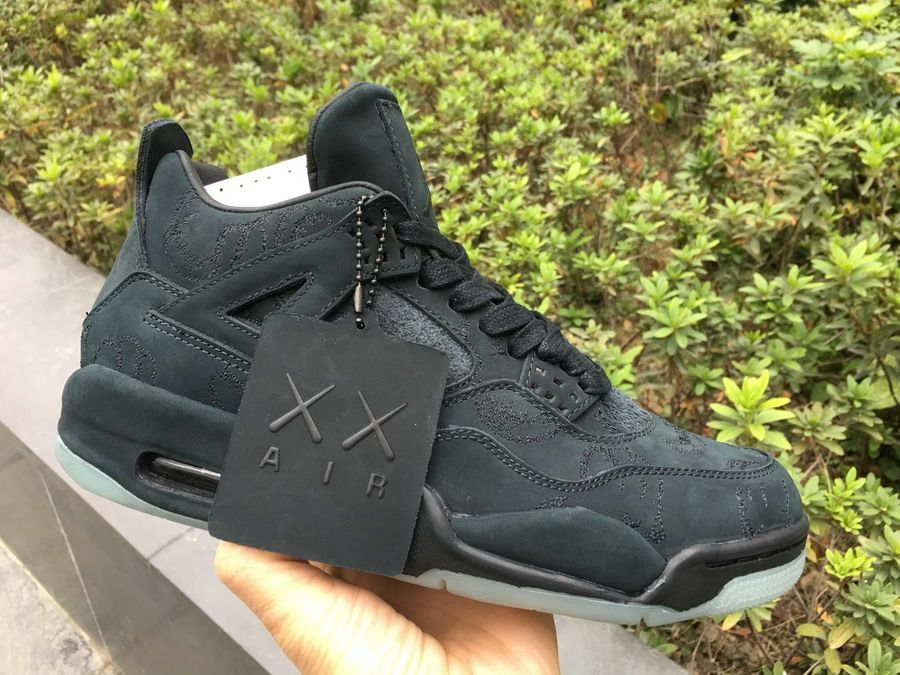 d5ffbe7d081 KAWS x Air Jordan 4 Black 930155-001