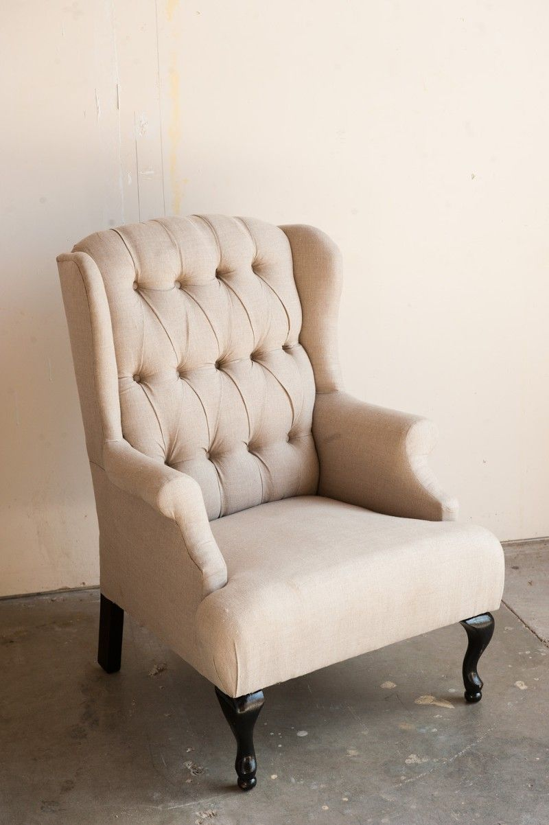 Superieur Vintage Linen Wingback Chair Would Make A Great Reading Chairu003cu003cSOMEONE  PLEASE GET ME