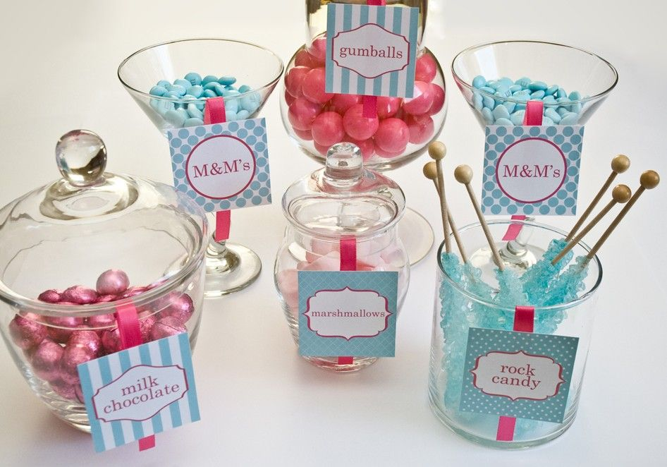 This is a photo of Persnickety Candy Buffet Label Template