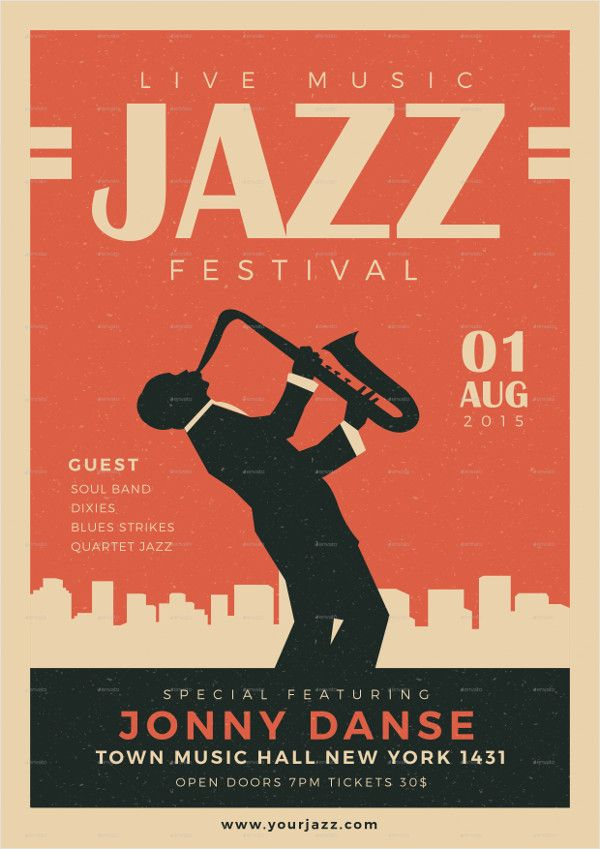 Old Jazz Festival Poster   1930s in 2019   Jazz poster, Band