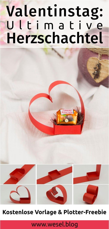 Valentinstag Ideen: DIY Herzschachtel. Das perfekte Valentinstag Geschenk zum selbst Basteln. Eine perfekte Valentinstag DIY - Geschenkidee auch jenseits der klassichen Blumen.
